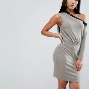 NWT ASOS Asymmetrical Dress With Studded N…